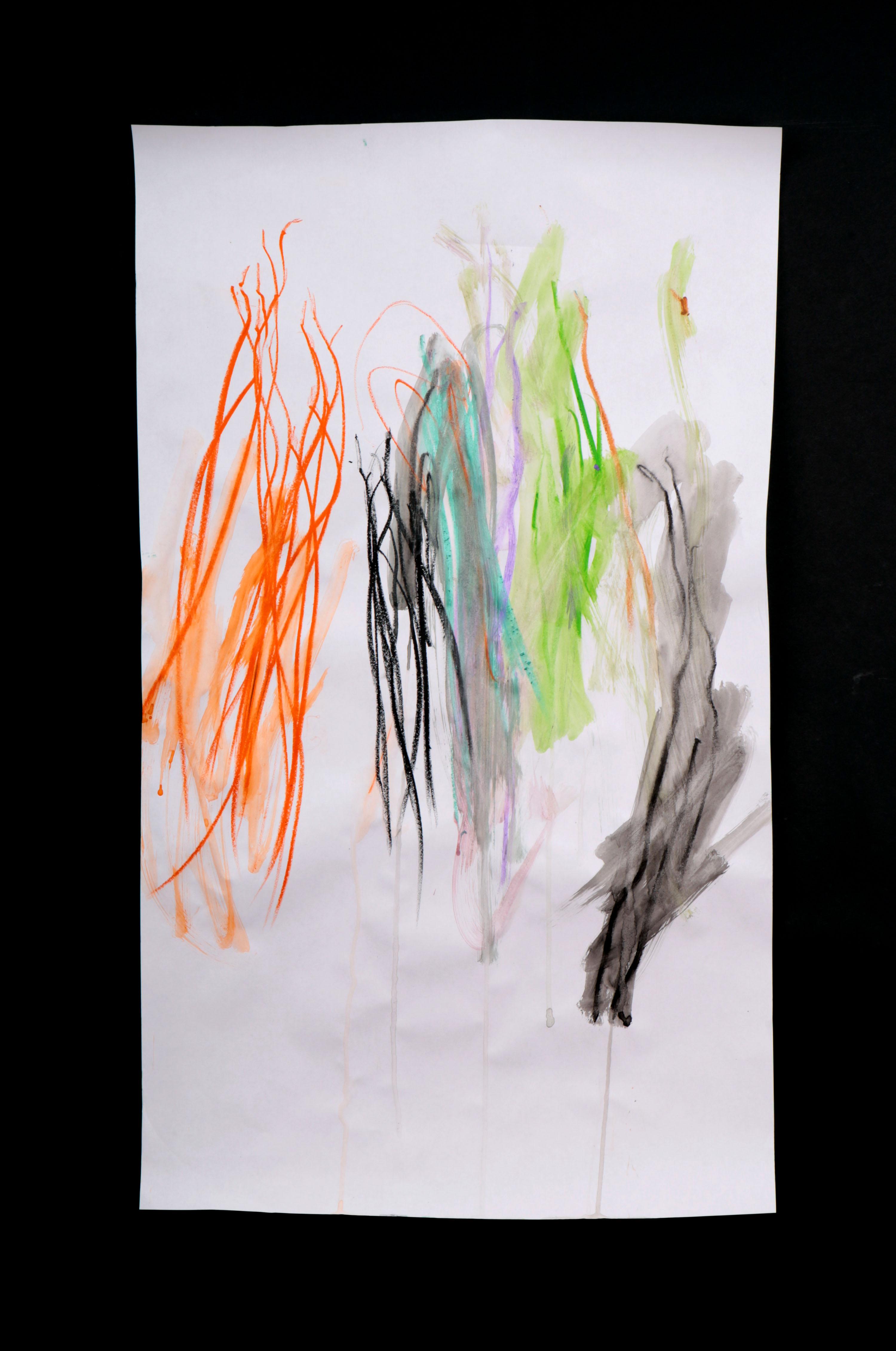 Art by Anastasia. Untitled #78. Gel sticks on paper.
