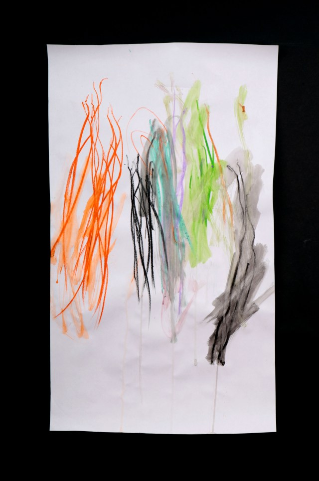 Art by Anastasia. Untitled #78. Gel sticks on paper.