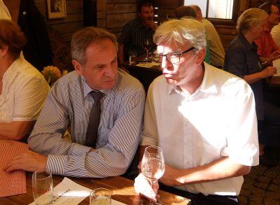 Innenminister Gall liks im Gespräch mit Landesobmann Klaus Hoffmann