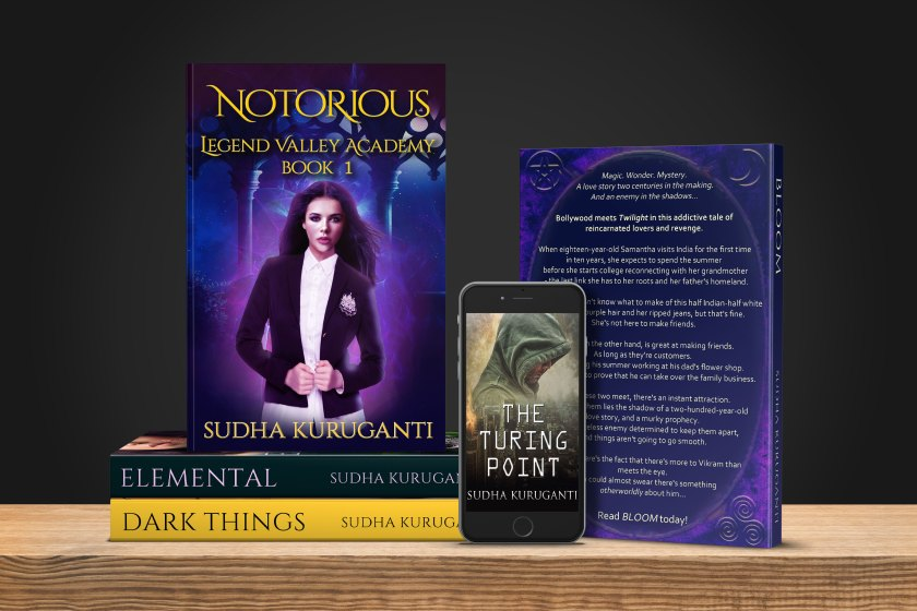 Books by Sudha Kuruganti. Fantasy inspired by Indian mythology and folklore. Magic Academy trilogy, urban fantasy, and standalone clean paranormal romance.