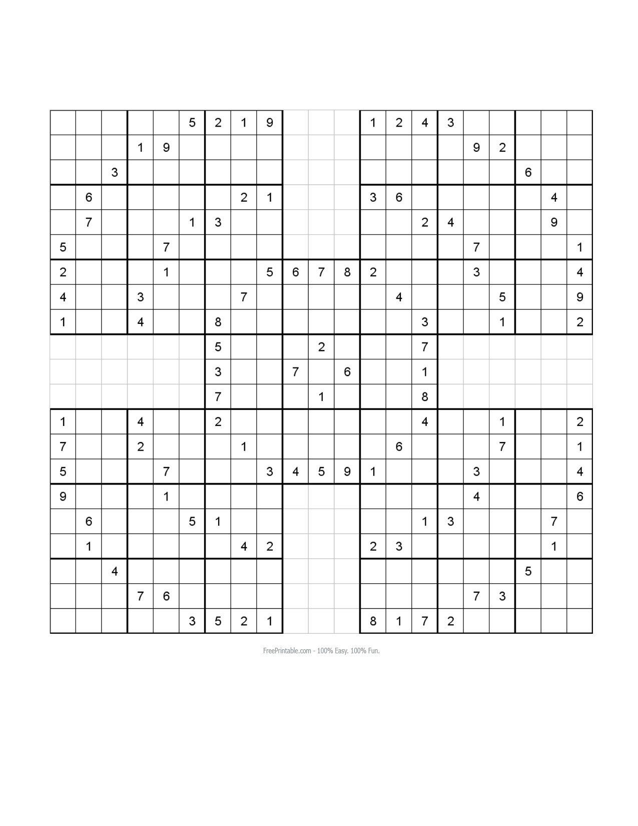 Blank Sudoku Worksheet