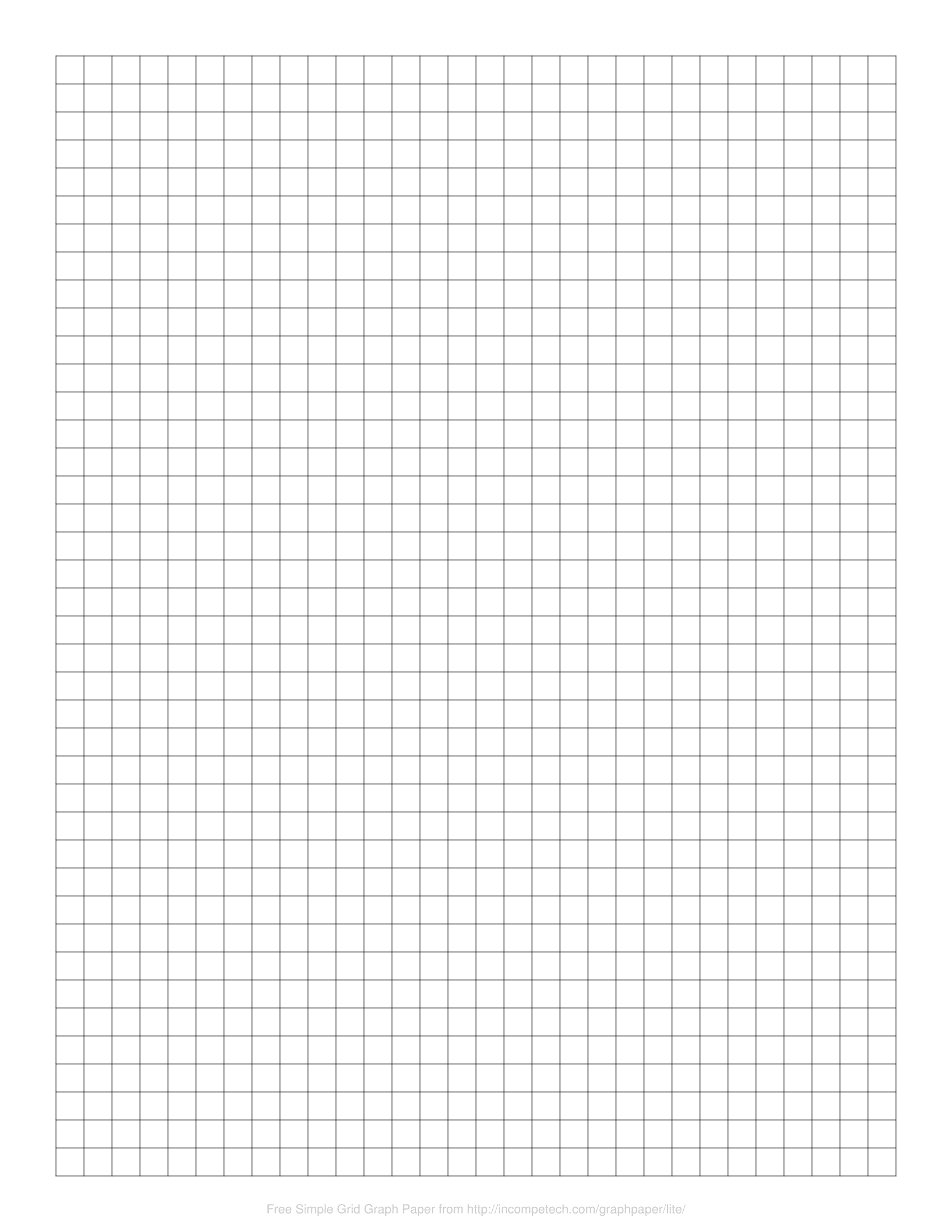 Graph Paper 25x25