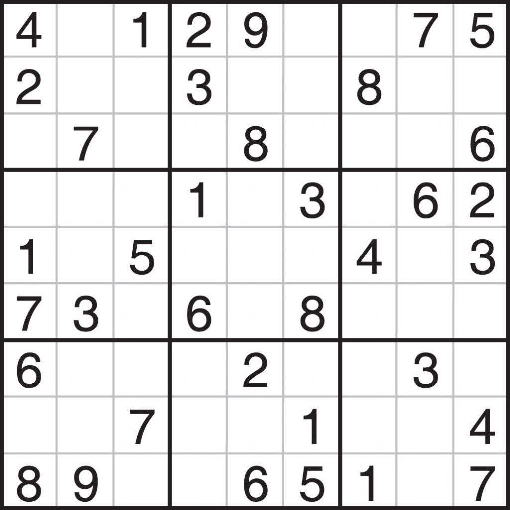 Sudoku Puzzles Worksheet