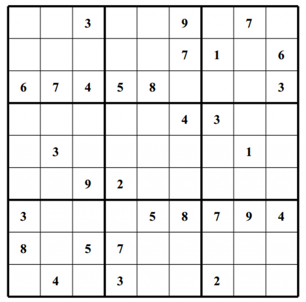 Printable Blank Sudoku Worksheet