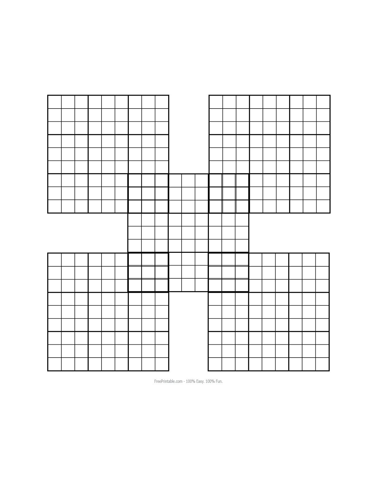 Lovely Blank Sudoku Worksheet