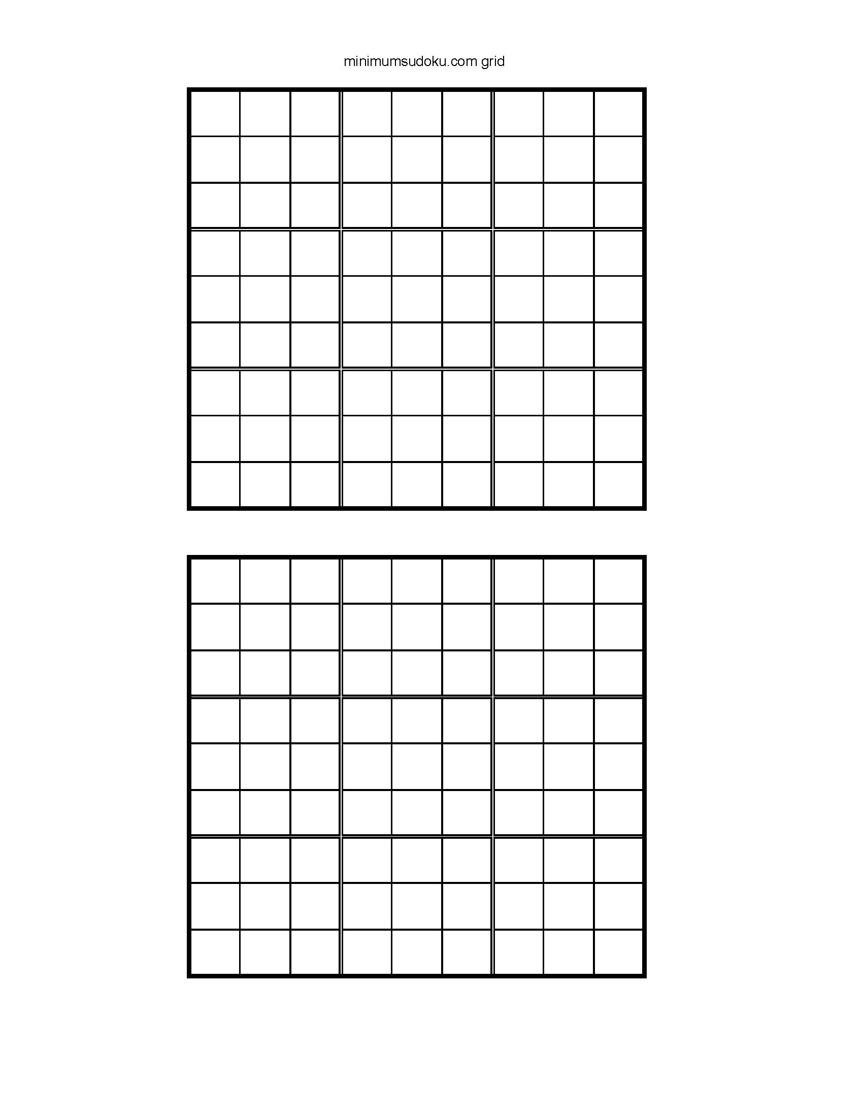 Printable Blank Sudoku Worksheet