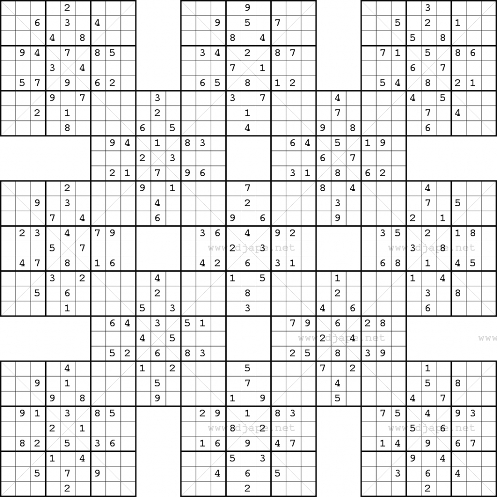 Sudoku Blank Worksheet