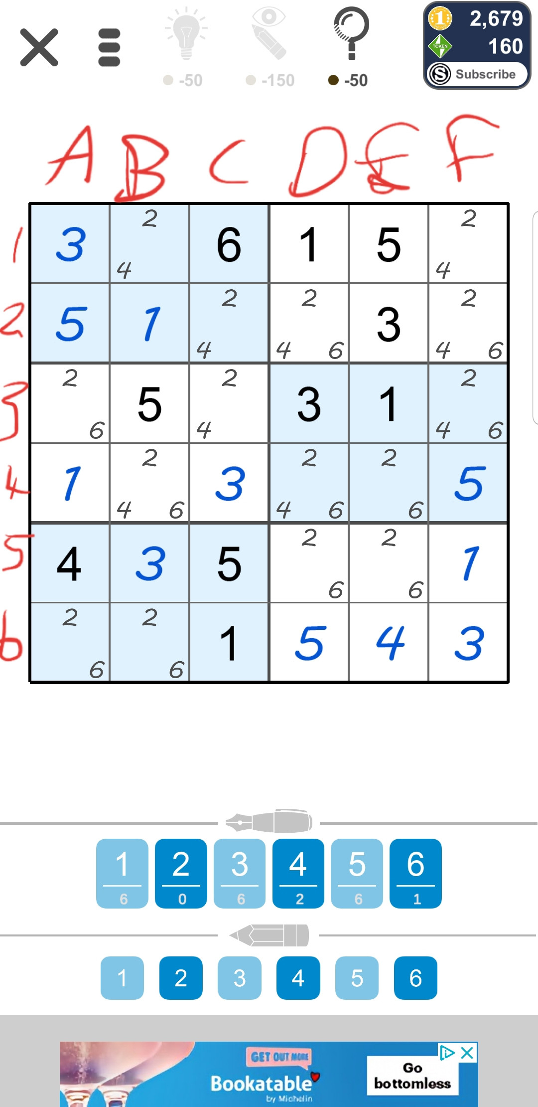 What Is The Best Way To Solve This 6x6 Sudoku