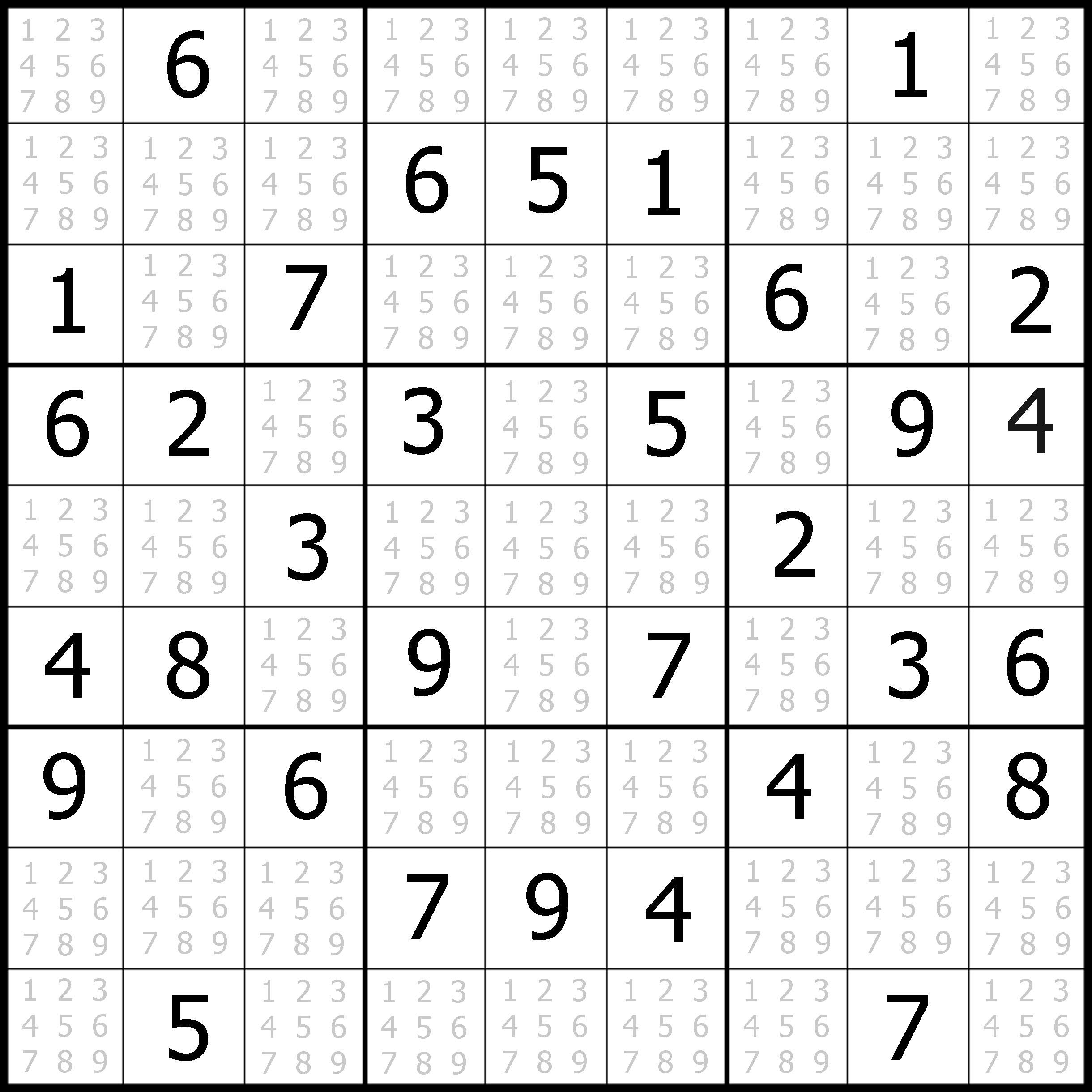 Easy Sudoku Worksheet