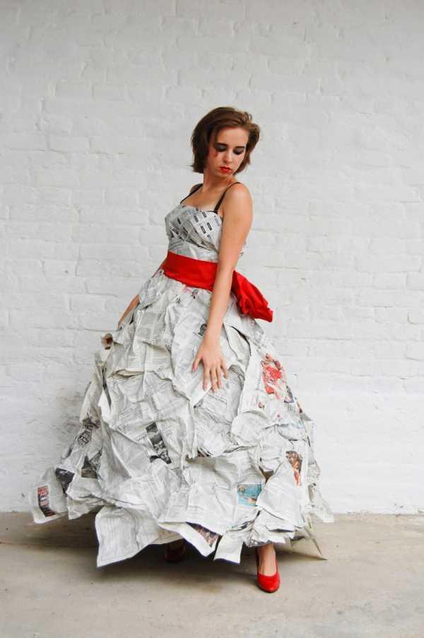 Украшение на платье из бумаги – мастер-класс изготовления ...