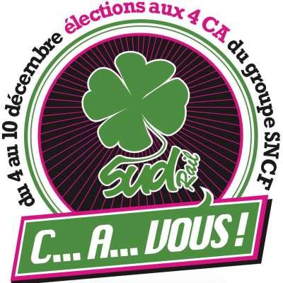 Elections au CA de la SA SNCF: Pourquoi voter SUD-Rail?
