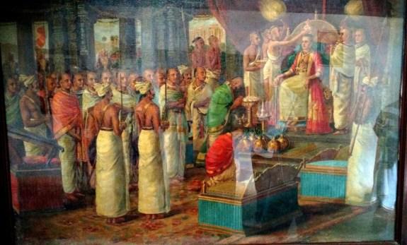 King Marthandavarma's crwoning