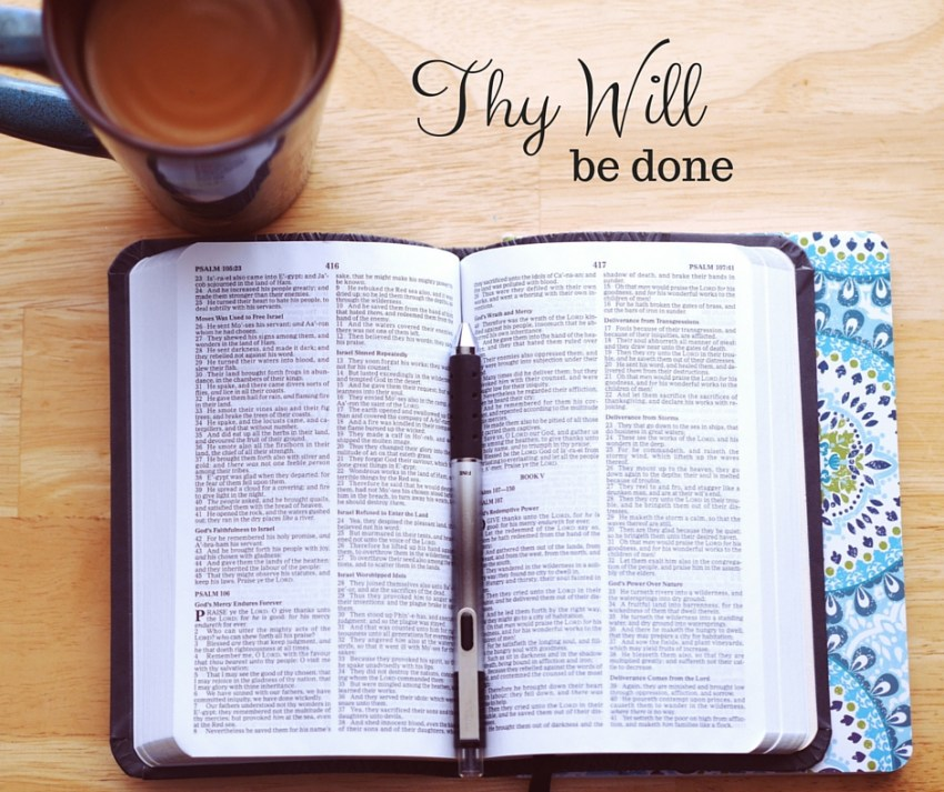 What does it mean to pray thy will be done?