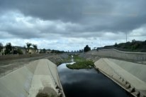 Water in the drainage canal!