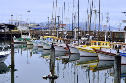 Boats at San Francisco harbor