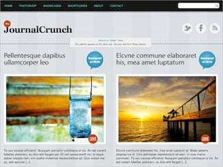 Journal Crunch Free WordPress Photo Theme