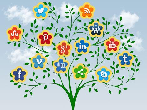 Social Icon Flowering Tree