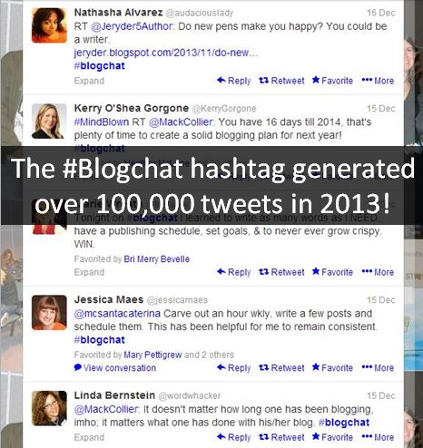 hashtag chat #blogchat stats