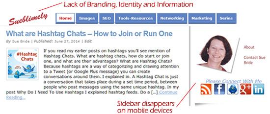 Narrow Responsive Blog Header