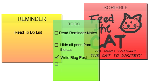 Note-taking system, reminders, to do list