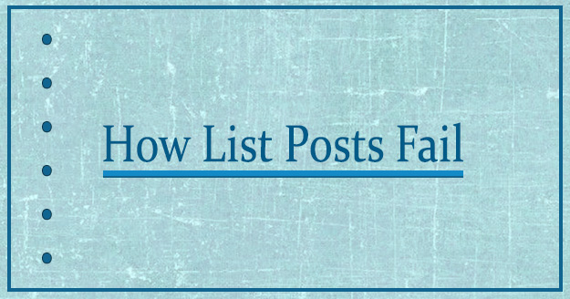 How List Posts Fail