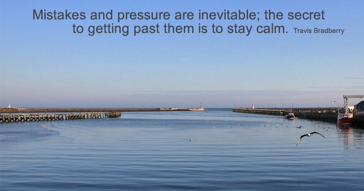 Mistakes and Calm Quote
