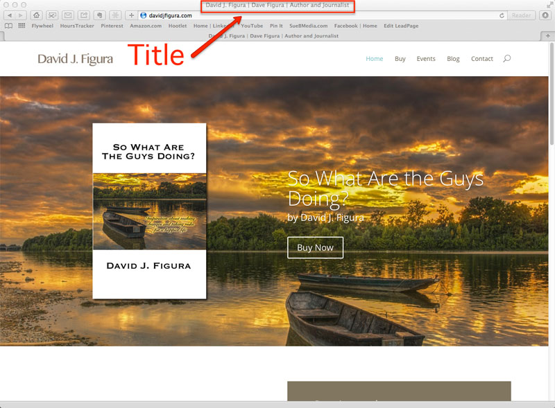 web page title tag