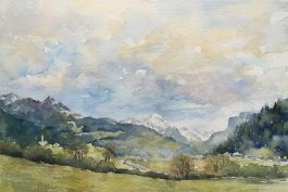 Sunsetting over the Alps SOLD