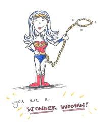 Wonder Woman print.
