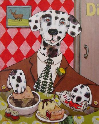 Dapper Dog Dining by Sue Clancy