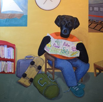 Going Places, Getting There (one panel of a diptych created for the Curtis Children's Justice Center in Vancouver WA)