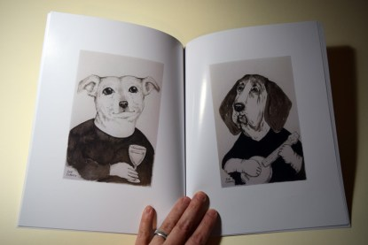 "Page spread from ""Dogs by Sue Clancy"" https://store.bookbaby.com/book/Dogs-By-Sue-Clancy"