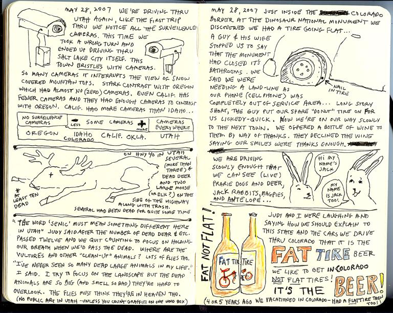 Oregon Coast Sketchbook Page