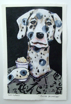 Mocha Dalmation by Sue Clancy