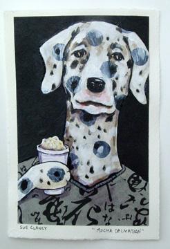 Mocha Dalmation by Sue Clancy