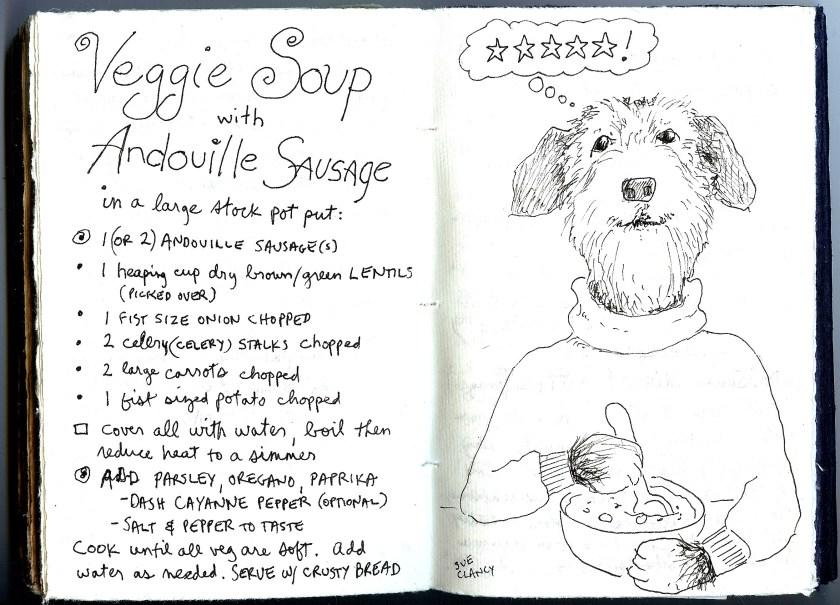 VeggieSausageSoupDog72