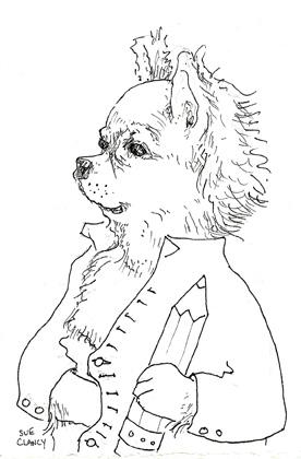 sketchbook drawing by Sue Clancy