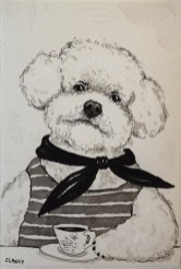 Pierre by Clancy (ink on handmade paper)