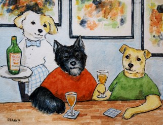 """""""Cheers, Olive!"""" by Clancy"""