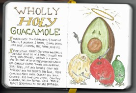 """pages from my """"Mouthpiece Four"""" kitchen sketchbook"""