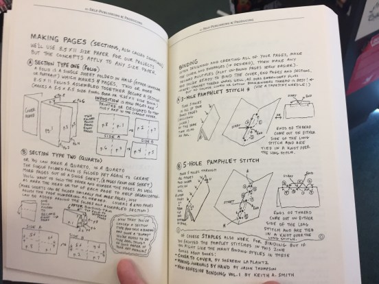 """pages from Clancy's written and illustrated DIY essay in the book """"Making Things Doing Stuff"""" collected by Kyle Bravo https://microcosmpublishing.com/catalog/books/1400/"""