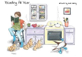 Reading All Year 2020 calendar - by Clancy - https://www.zazzle.com/reading_all_year_calendar-158568863164512508