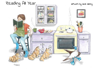 Reading All Year 2020 calendar - by Clancy - https://www.zazzle.com/reading_all_year_calendar-158568863164512508