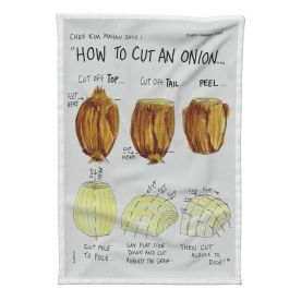 Special Edition Tea Towel by Clancy - https://roostery.com/p/spoonflower-linen-tea-towel/6323674-how-to-cut-onion-by-sueclancy