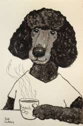 Sandy by Sue Clancy (ink on handmade paper)