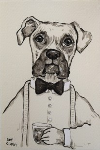"""Kingston"" by Sue Clancy - ink on handmade paper"