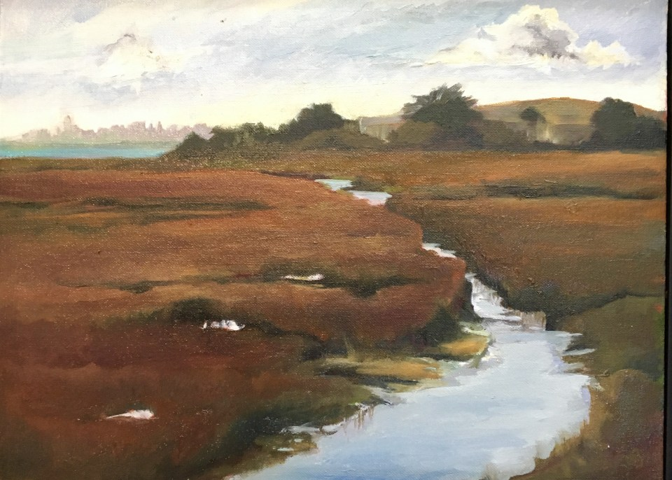 Sedge Marsh Dusk - 16x20