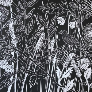 HANDPRINTED ONE COLOUR LINOCUTS