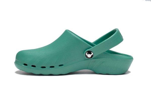 Oden Klompe zelene papuce zelene Suecos klompe (4)