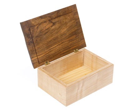 Walnut Jewellery Box by Sue Darlison